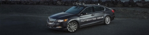 Second Generation Automated Acura RLX Development Vehicle Revealed In California
