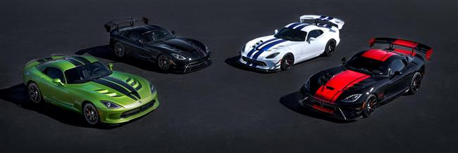 Dodge Celebrates 25th Anniversary And Final Year Of Viper Production With Five Exclusive Limited-Edition Models