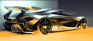The Mclaren P1™ GTR Design Concept Previewed Ahead Of Pebble Beach Global Debut