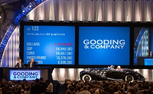 Gooding & Company breaks world record for the highest sale total of in automotive auction history with $113.7 million in two days