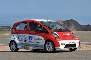 Mitsubishi i-MiEV Evolution Scores an Impressive 2nd-Place Finish in its 2012 Pikes Peak International Hill Climb Debut