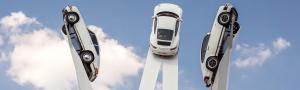 Sculpture Revealed On The Porscheplatz In Germany