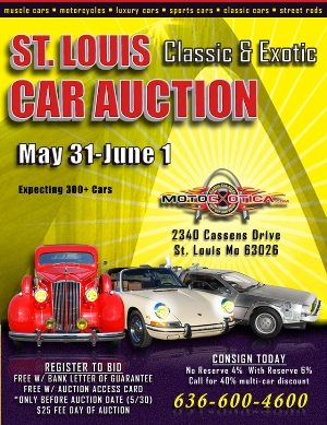 Over 300 vintage cars on the block at the St. Louis Classic & Exotic Car Auction