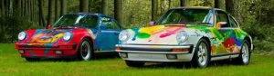 Thibeault, Le Sauteur and Lafrance Etched Porsche Art Cars to be Featured Offerings at Russo and Steele Monterey!