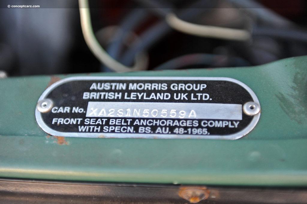 1970 Austin Mini Image. Chassis number XA251N50559A