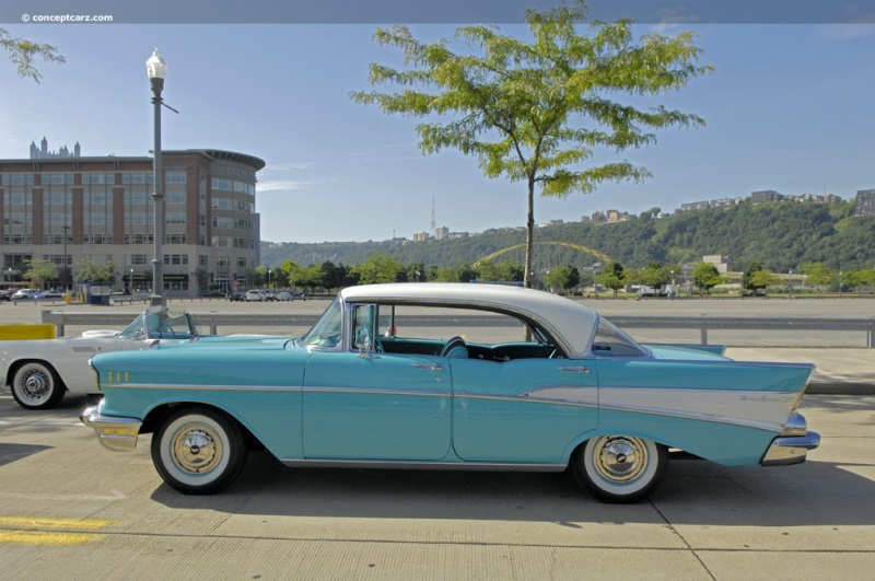 1957 chevrolet bel air history pictures value auction sales