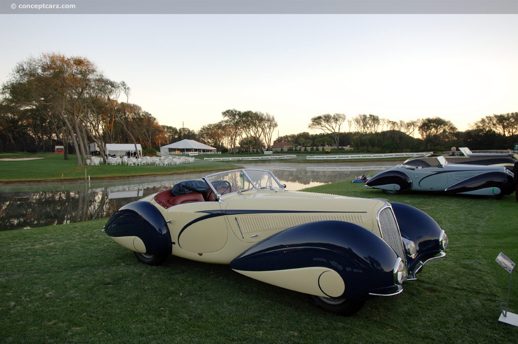 1939 delahaye type 135 m at the amelia island concours d