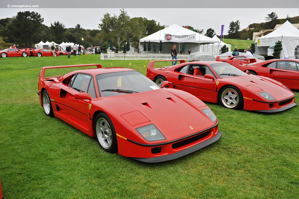 Auction Results and Sales Data for 1990 Ferrari F40