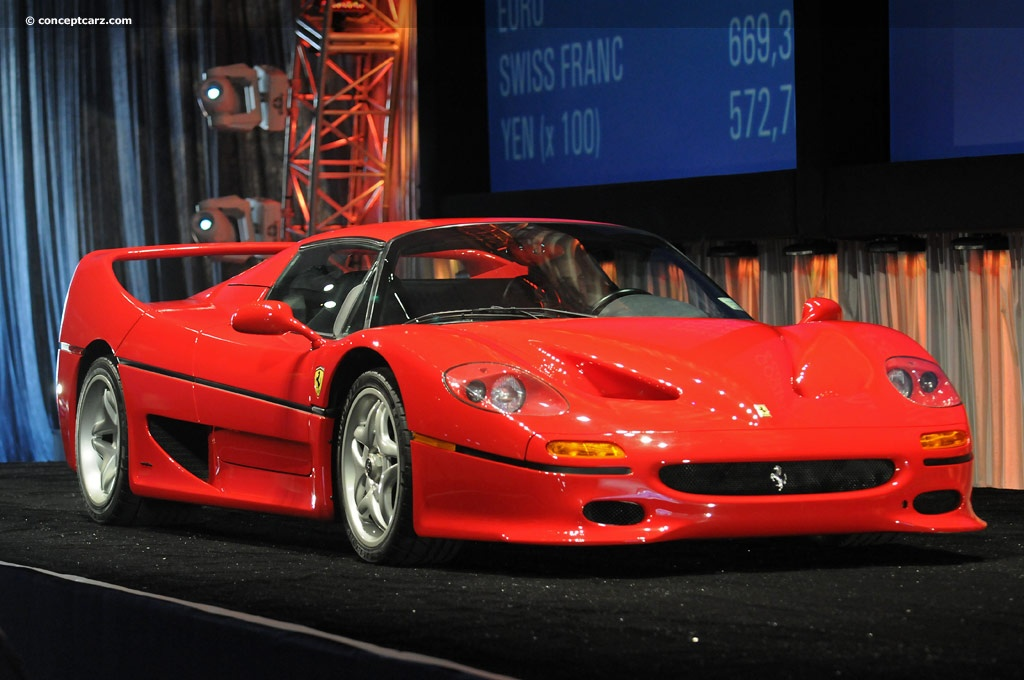 Auction Results and Sales Data for 1995 Ferrari F50