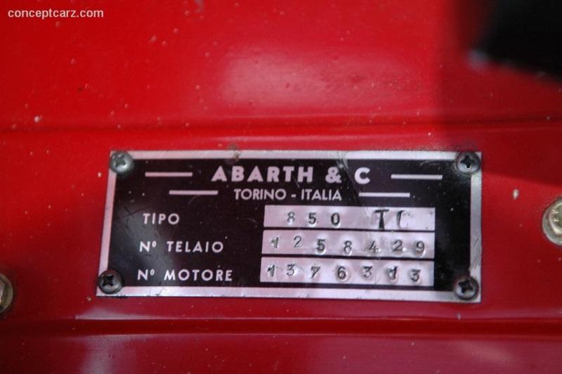 1962 Abarth 850 TC