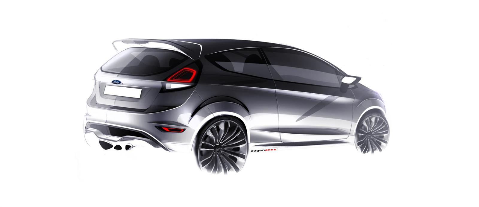 Ford Fiesta Hatchback >> 2012 Ford Fiesta ST Concept Image. Photo 26 of 27
