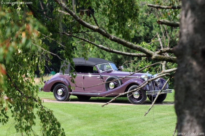 1938 Horch 853 Phaeton Chassis Information