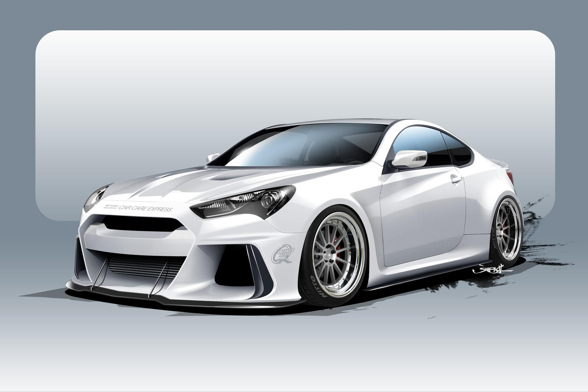 kit on features genesis hyundai remake a widebody builds btr coupe nitrous