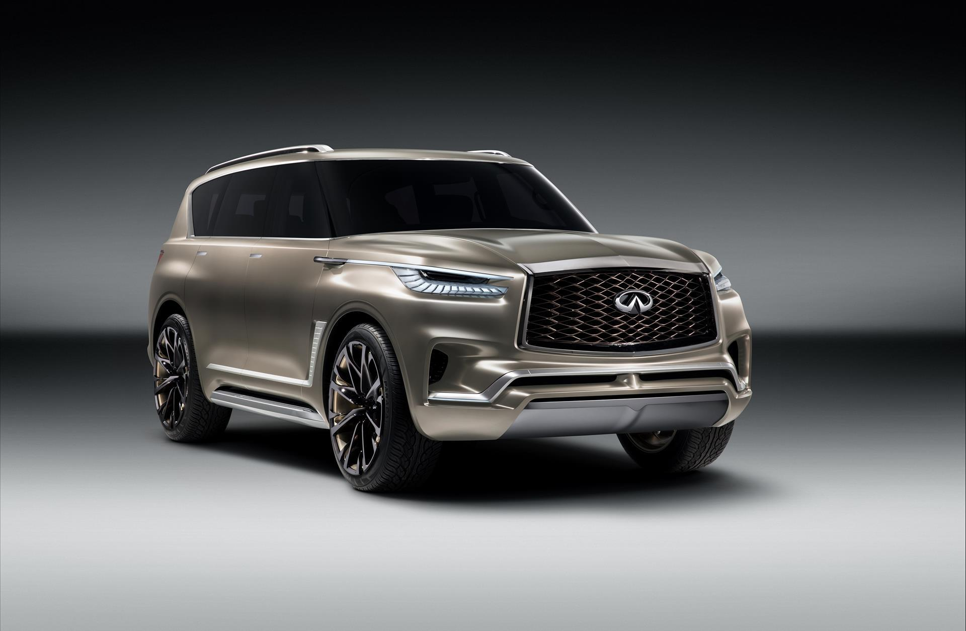 2017 infiniti qx80 monograph concept pictures news research pricing. Black Bedroom Furniture Sets. Home Design Ideas