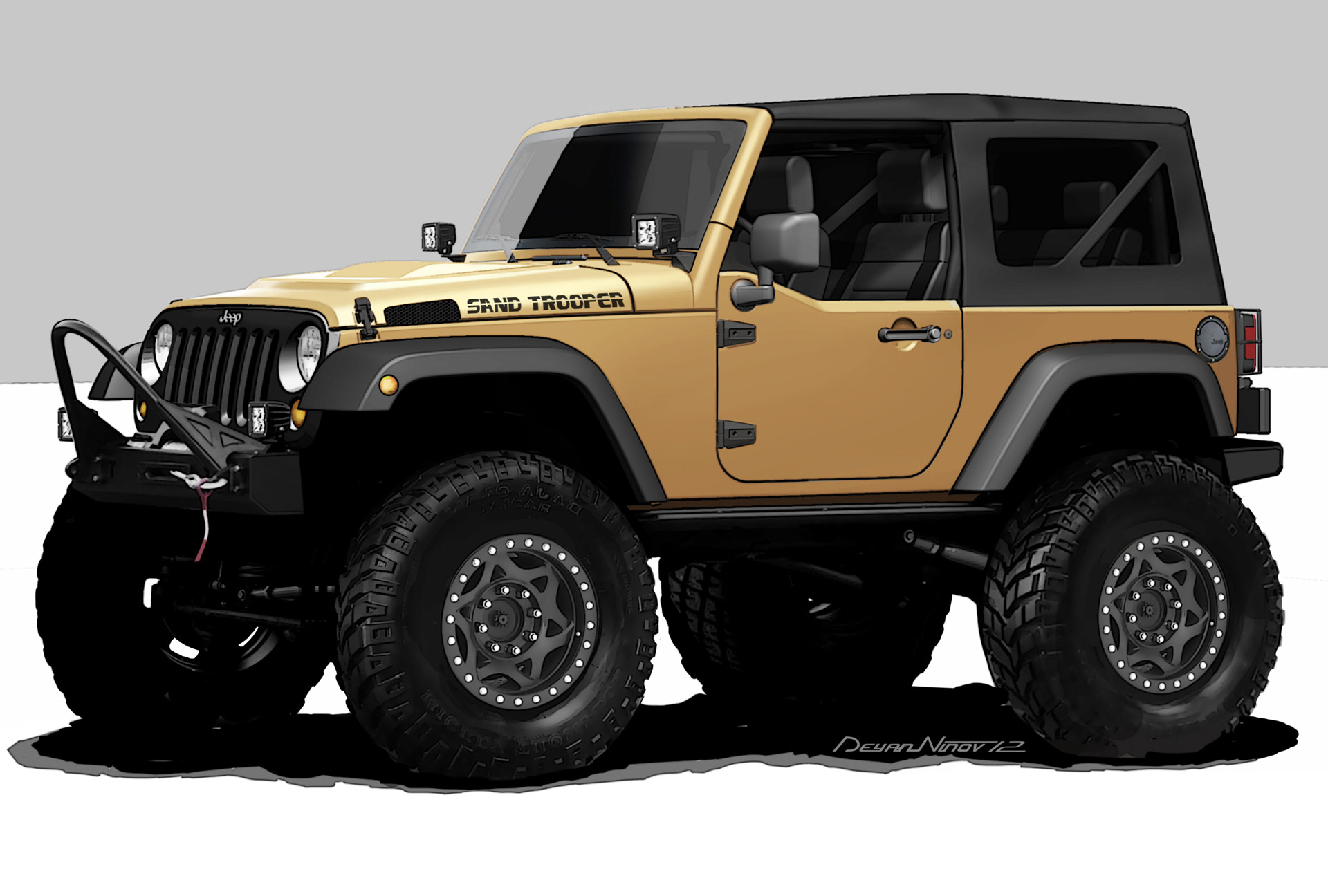 2012 jeep wrangler sand trooper news and information. Black Bedroom Furniture Sets. Home Design Ideas