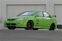 2004 Kia Spectra Green Scream image.