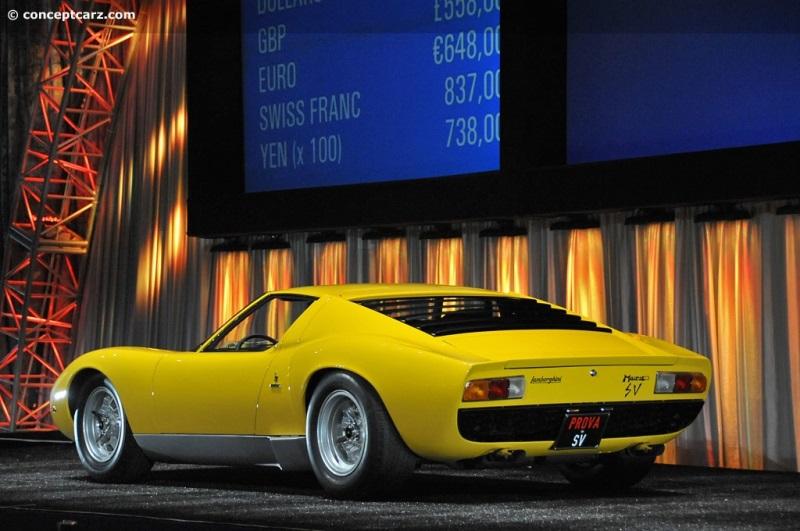 Chassis 4578 Engine 30618 1971 Lamborghini Miura P400sv Chassis