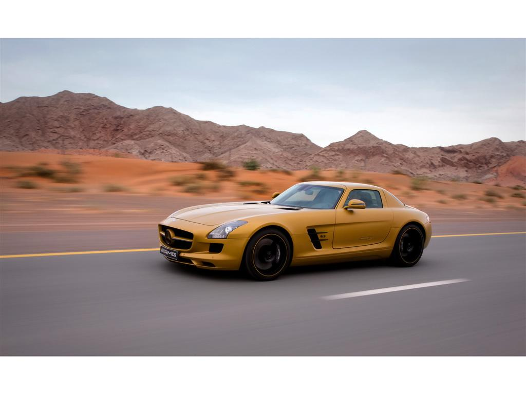 Auction results and sales data for 2010 mercedes benz sls for Gold mercedes benz price