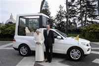 2012 Mercedes-Benz M-Class Popemobile image.