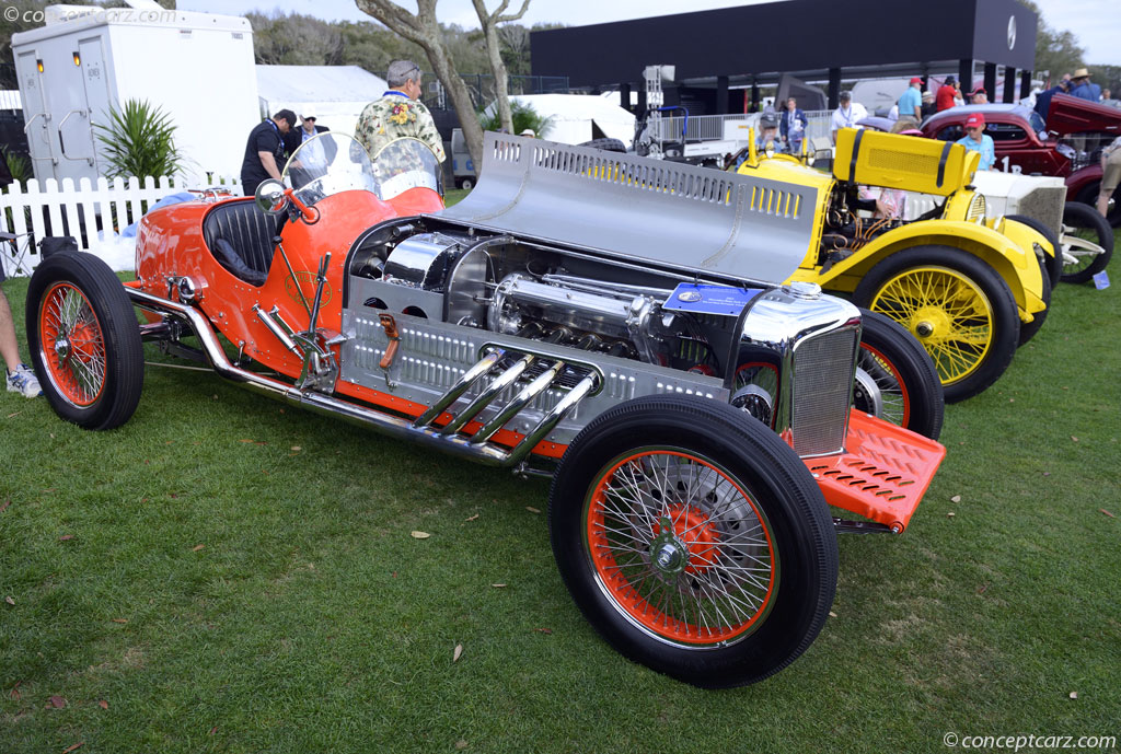1923 mercedes benz indy 500 race car at the amelia island for Mercedes benz race cars
