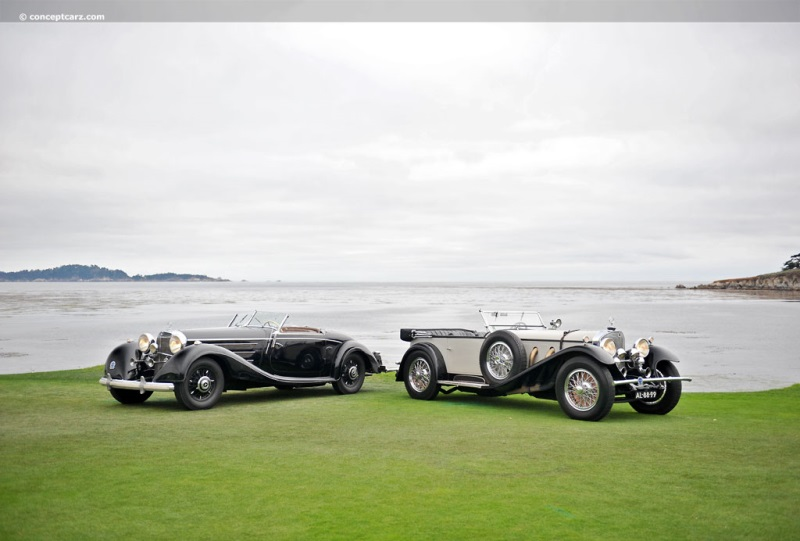 1928 mercedes benz 710 ss at the 61st pebble beach for Mercedes benz ss