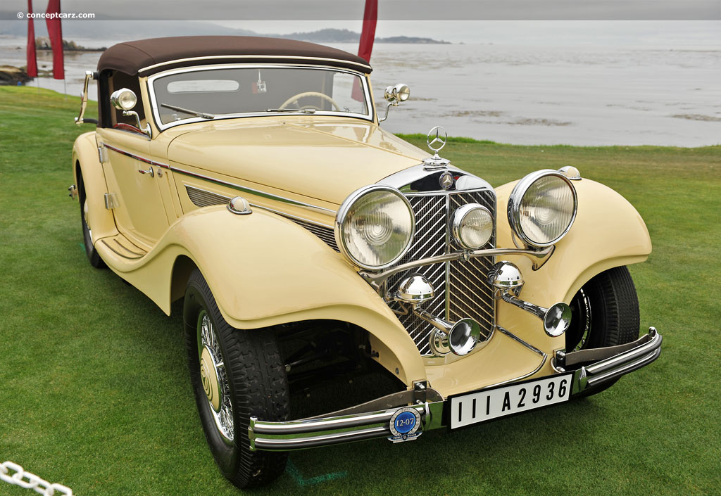 1936 Mercedes Benz 290k At The 61st Pebble Beach Concours