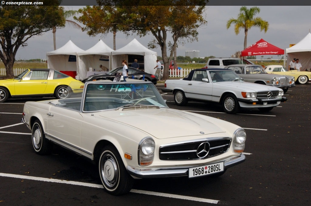 auction results and sales data for 1968 mercedes benz 280 sl. Black Bedroom Furniture Sets. Home Design Ideas