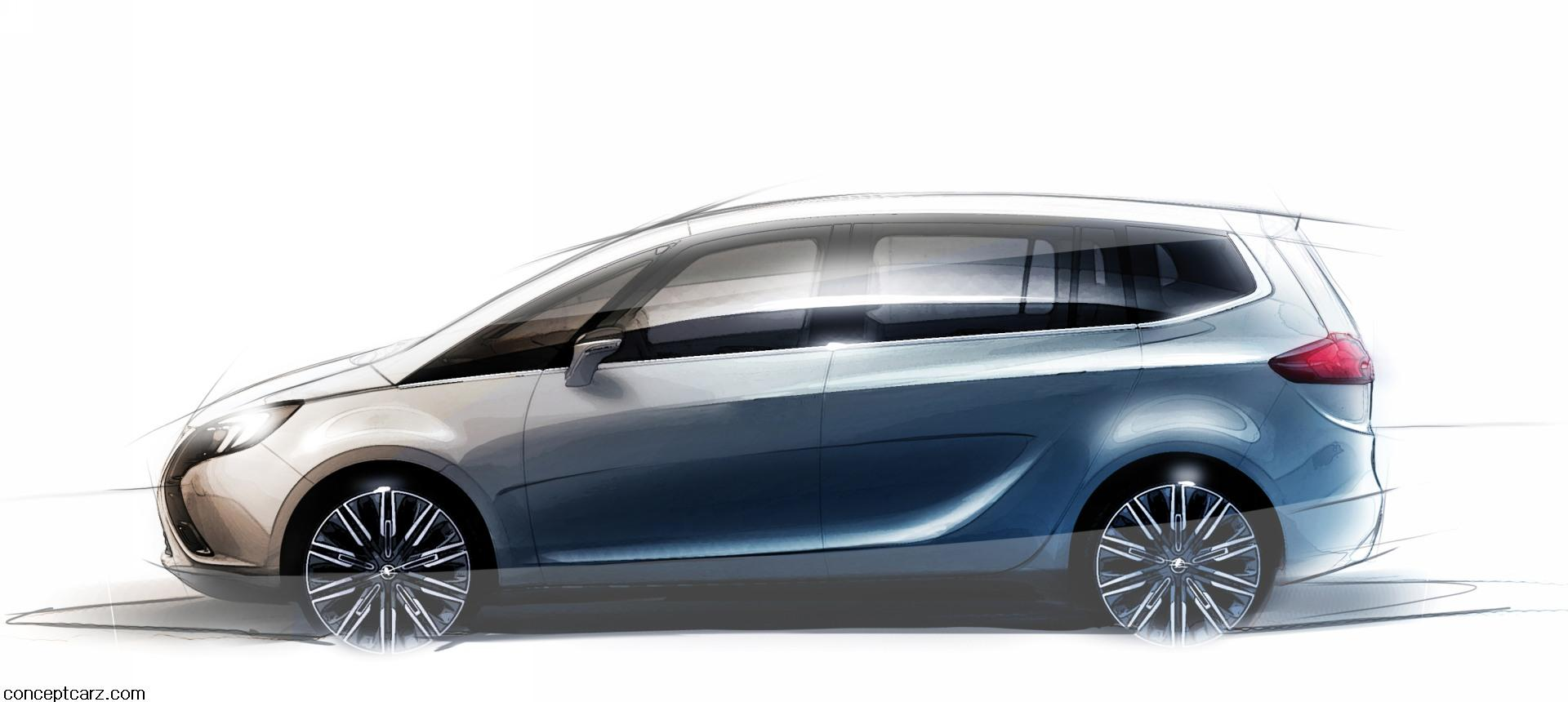 2011 opel zafira tourer concept news and information. Black Bedroom Furniture Sets. Home Design Ideas