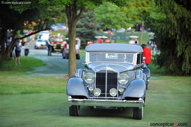 #pha.010097 Photo PACKARD TWELVE CLUB SEDAN 1934 Car Auto