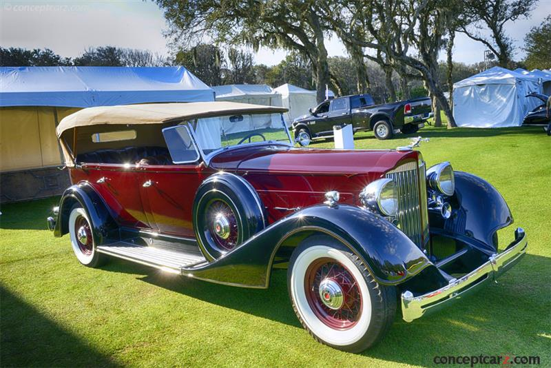 1934 packard 1104 super eight vehicle information