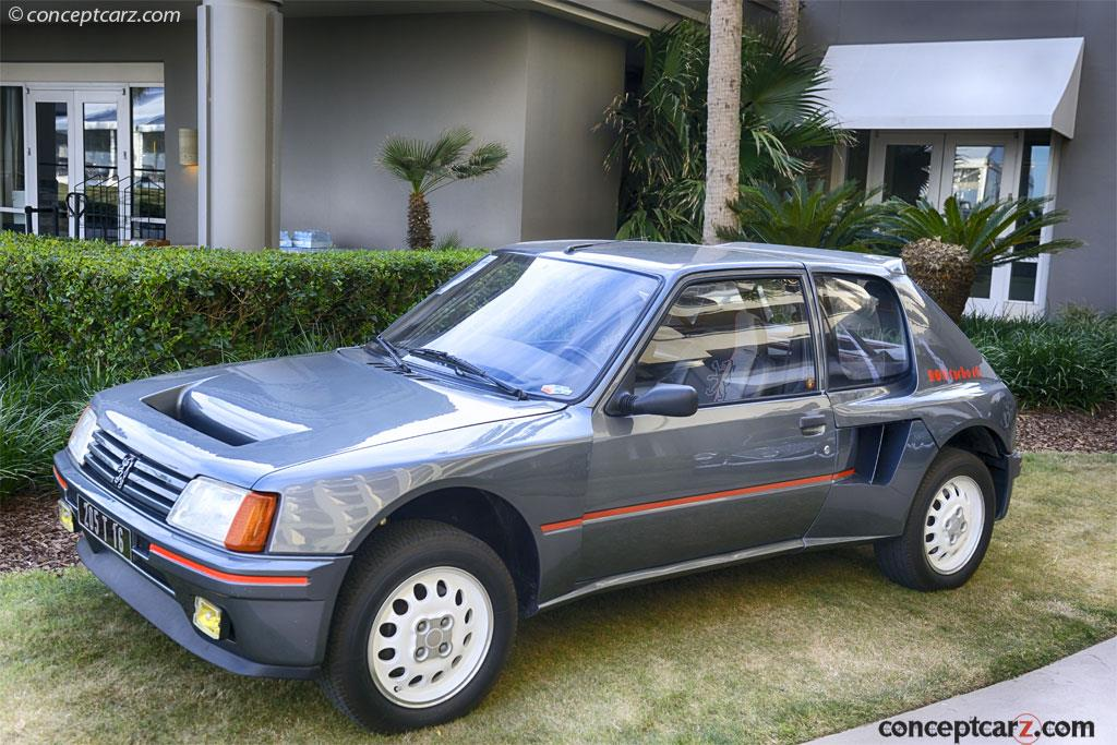 auction results and sales data for 1984 peugeot 205 turbo 16