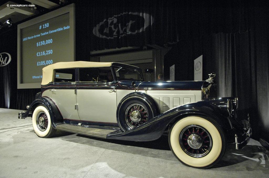 1933 Pierce-Arrow Model 1242 Twelve Pictures, History, Value, Research, News - conceptcarz.com