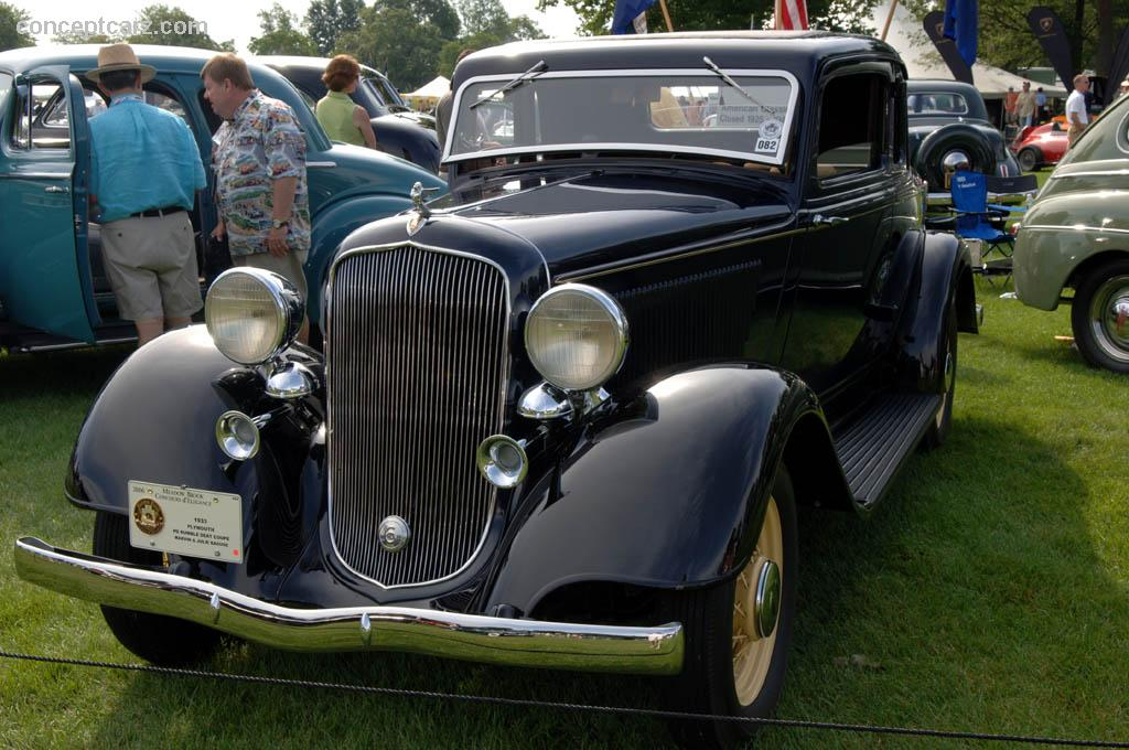 1933 Plymouth PD DeLuxe Six History, Pictures, Value, Auction Sales, Research and News