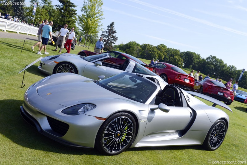 2015 porsche 918 spyder at the 37th annual concours d 39 elegance of america at st john 39 s. Black Bedroom Furniture Sets. Home Design Ideas