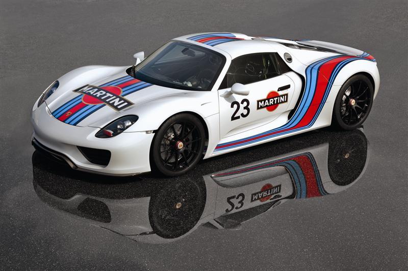 2013 Porsche 918 Spyder Martini Livery