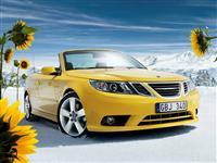 Popular 2008 Saab 9-3 Convertible Yellow Edition Wallpaper
