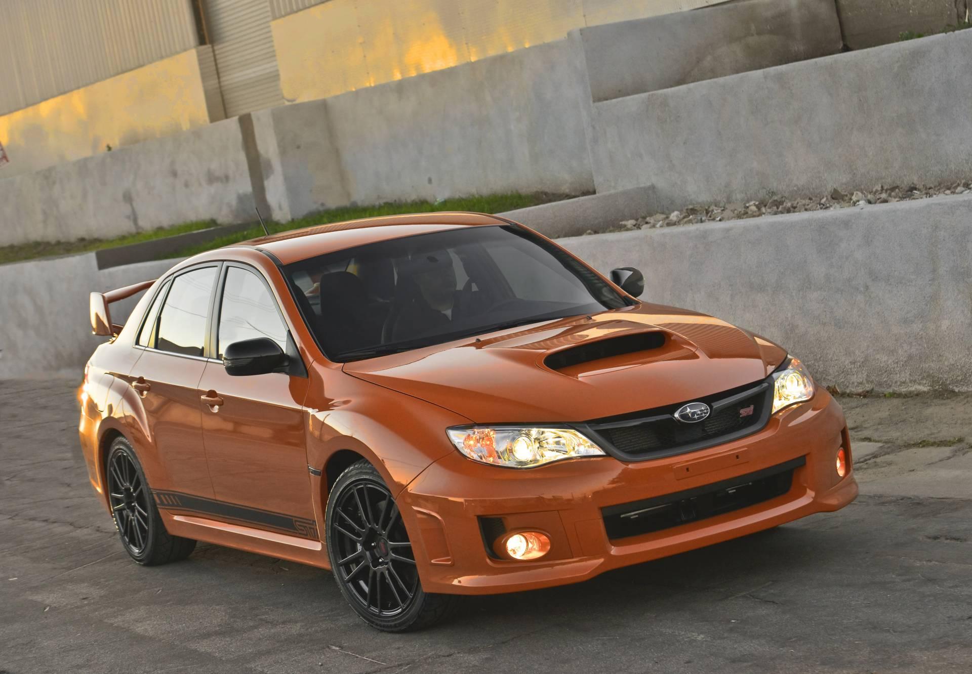 subaru wrx sti impreza special orange edition editions forester sema problems outback front brake cars conceptcarz hit legacy version usa