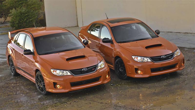 2013 Subaru Impreza Wrx Orange And Black Special Edition Image