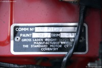 1966 Triumph TR4A.  Chassis number CTC 61491 L