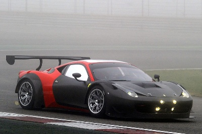 The 458 GT3 tests the latest 2013 updates at Adria