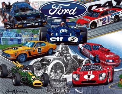 Limited-Edition Ford Racing History Artwork Unveiled at SEMA; Limited-Edition Print Sales to Benefit JDRF