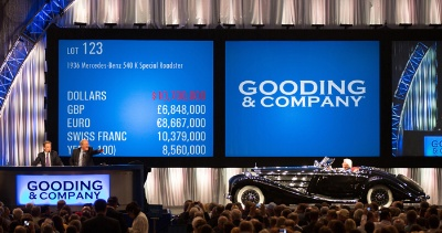 Up 44%, Gooding & Company reports more than $189 million and 45 world records from its 2012 automotive auction sales