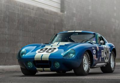 Iconic 1965 Shelby Cobra Daytona Coupe owned by Carroll Shelby offered by Worldwide Auctioneers