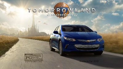 AD SHOWS 2016 CHEVROLET VOLT IS 'TOMORROWLAND' TODAY