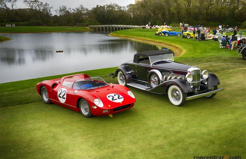 1929 Duesenberg J/SJ Convertible And 1963 Ferrari 250/275P Win Best Of Show At The 23rd Annual Amelia Island Concours D'Elegance