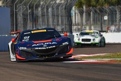 realtime racing acura nsx gt3 earns pair of top 10s in 2017 debut