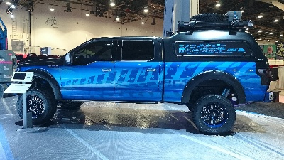 AWARD WINNING A.R.E ACCESSORIES F-150 PROJECT TRUCK ON DISPLAY IN DUB EXHIBIT DURING L.A. AUTO SHOW