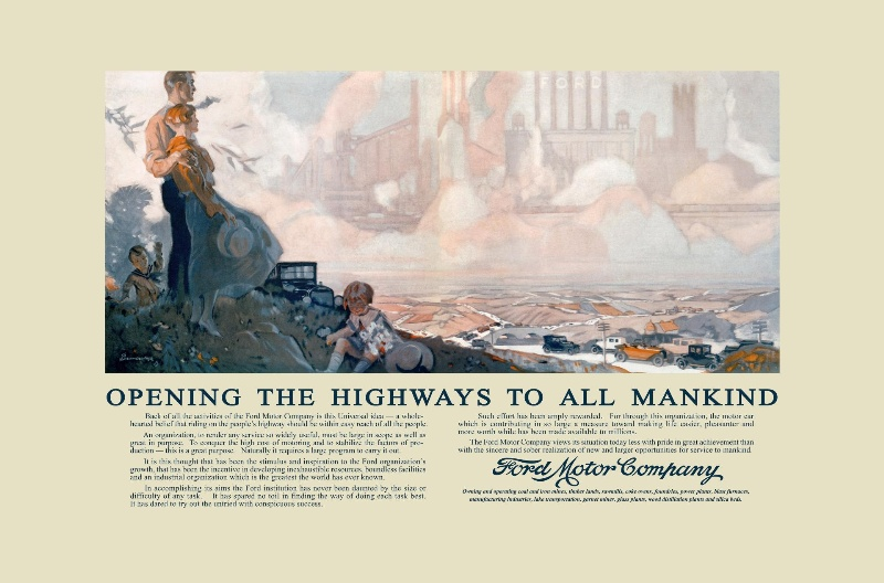 'OPENING THE HIGHWAYS' ARTWORK RESTORED AS FORD BUILDS ON CENTURY-PLUS LEGACY OF MOBILITY LEADERSHIP