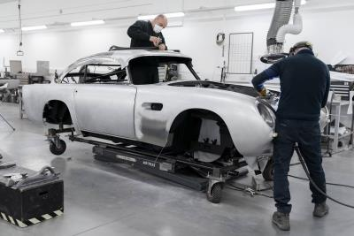 Aston Martin DB5 Production Resumes After 55 Years As Build Work Begins On DB5 Goldfinger Continuation Cars