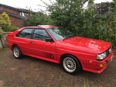 Low Mileage Audi Quattro Cult Classic For Auction With CCA
